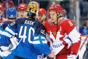 Игрок сборной Финляндии Rask